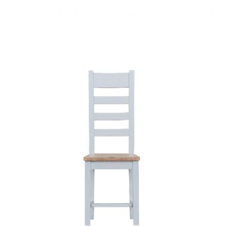 Toulouse Grey Ladder Back Chair Wooden Seat